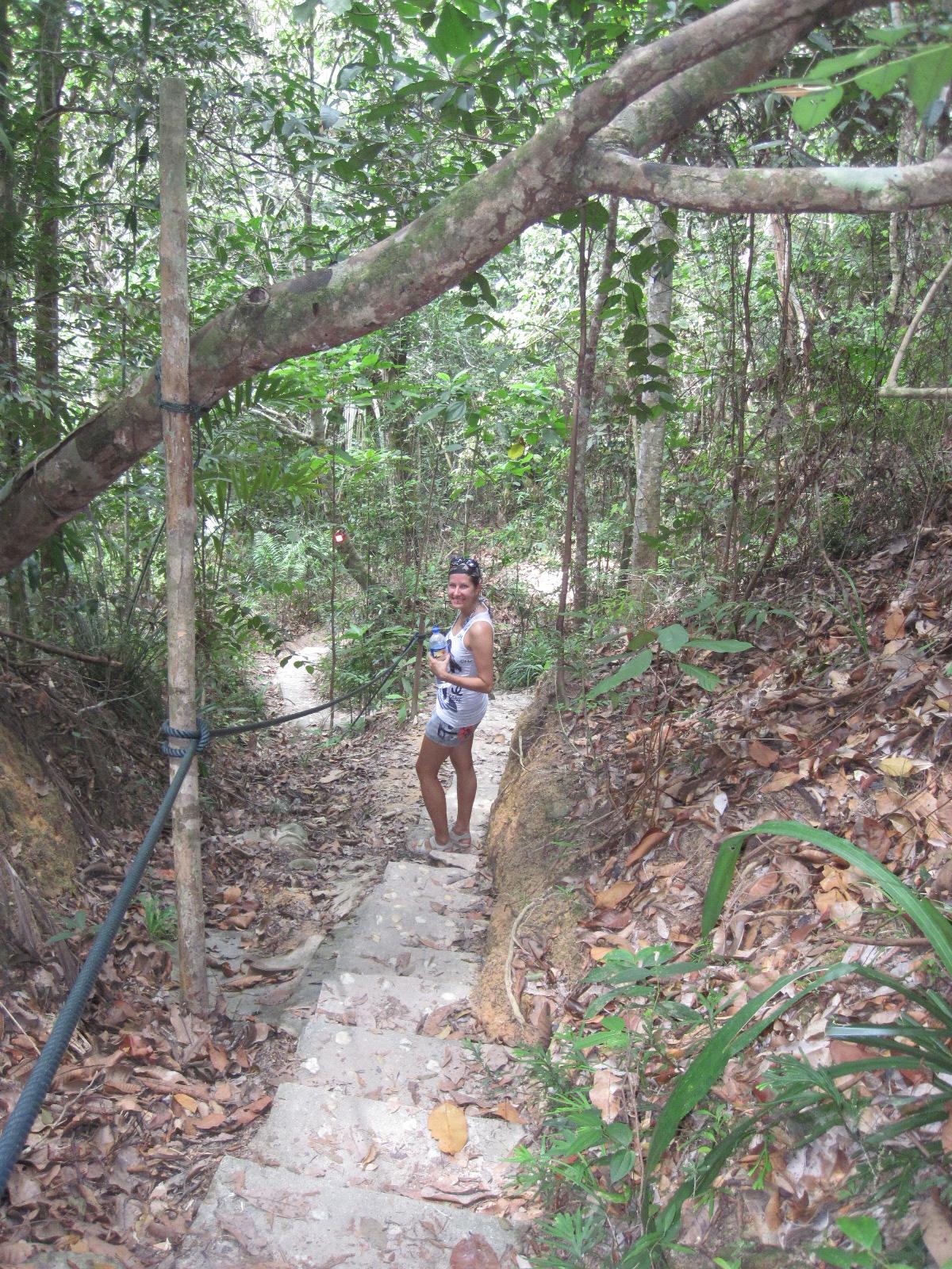 Minna vaeltaa pitkin Petangin kansallispuistoa