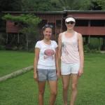 Yöpymispaikkamme Marian kotona Kinabatang-joen varrella