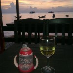 Sunset-drinksuilla.