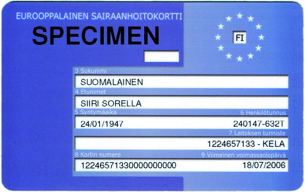 Hanki eurooppalainen sairaanhoitokortti